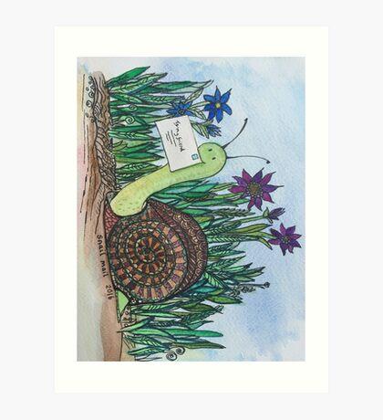 i love snail mail Art Print