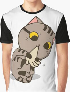 Cat is biting Graphic T-Shirt