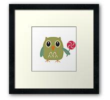 Coloured owl with a lollipop Framed Print