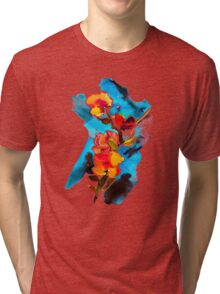 Watercolor flower. Tri-blend T-Shirt