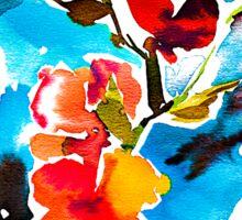 Watercolor flower. Sticker
