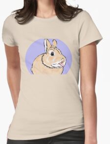 Cute Cheeky Bunny Rabbit Womens Fitted T-Shirt