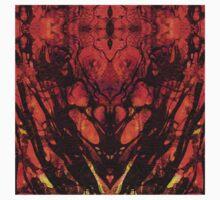 Red Abstract Art  - Heart Matters - Sharon Cummings Kids Tee