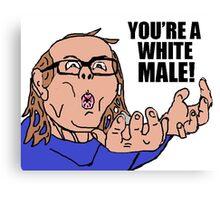 AIDS Skrillex - You're A White Male Canvas Print