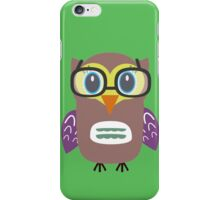 Nerdy owl  iPhone Case/Skin