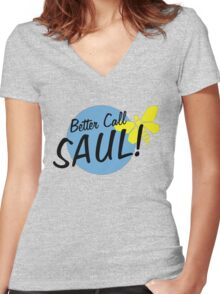 -BREAKING BAD- Better Call Saul Women's Fitted V-Neck T-Shirt