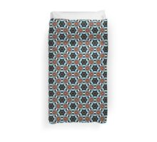 Abstract Kaleidoscopic Repeating Star Pattern Duvet Cover