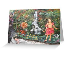 Girl's Dream Sequence Greeting Card