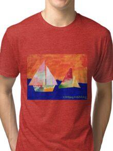 Sail Away - by Nadia Tri-blend T-Shirt