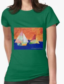 Sail Away - by Nadia Womens Fitted T-Shirt