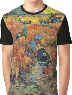 Red Vineyards by Vincent Van Gogh Graphic T-Shirt