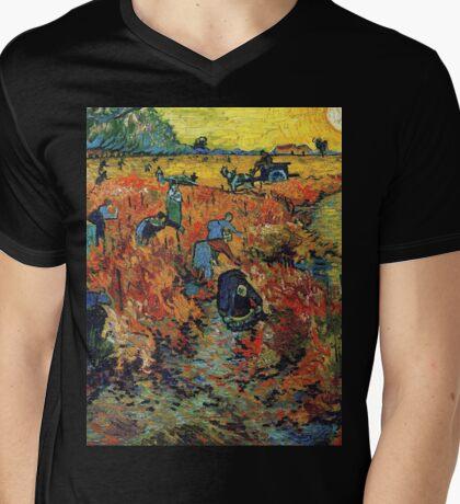 Red Vineyards by Vincent Van Gogh Mens V-Neck T-Shirt