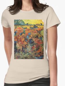 Red Vineyards by Vincent Van Gogh Womens Fitted T-Shirt