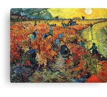 Red Vineyards by Vincent Van Gogh Canvas Print