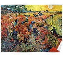 Red Vineyards by Vincent Van Gogh Poster