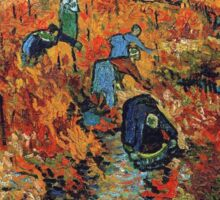 Red Vineyards by Vincent Van Gogh Sticker