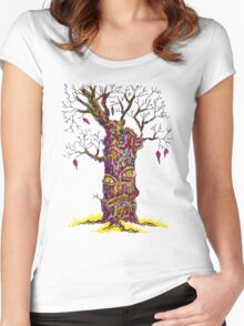 Autumn depression Women's Fitted Scoop T-Shirt