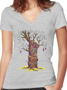 Autumn depression Women's Fitted V-Neck T-Shirt