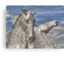 The Kelpies , Helix Park Canvas Print