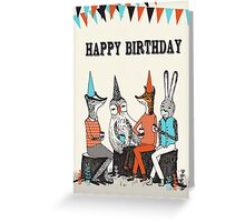 Happy Birthday - Garden Party  Greeting Card