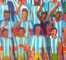 La hinchada de Argentina por Diego Manuel  Sticker