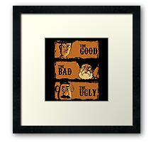 The Good The Bad the potato Framed Print