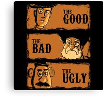 The Good The Bad the potato Canvas Print