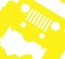 Don't Follow Me You Won't Make It. in yellow Sticker