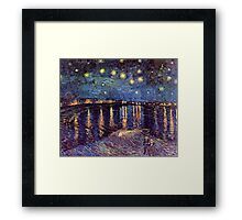 A Starry Night over the Rhone by Vincent van Gogh Framed Print