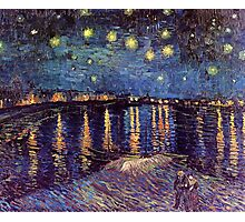 A Starry Night over the Rhone by Vincent van Gogh Photographic Print