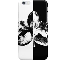 Orhid: black or white iPhone Case/Skin