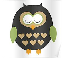 Sleeping owl  Poster