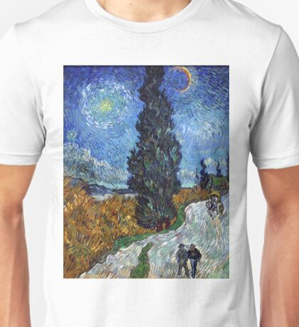 Country Road in Province by Vincent Van Gogh Unisex T-Shirt
