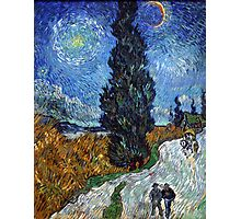 Country Road in Province by Vincent Van Gogh Photographic Print