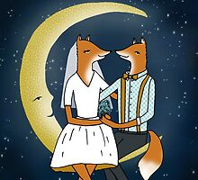 Congratulations - Wedding Foxes Card by Paper Sparrow