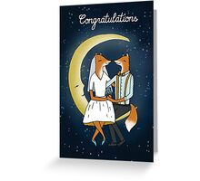 Congratulations - Wedding Foxes Card Greeting Card