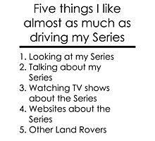 5 Things I Like - Series Photographic Print