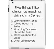 5 Things I Like - Series iPad Case/Skin