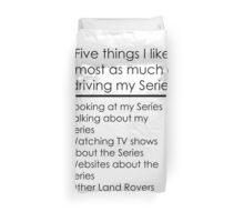 5 Things I Like - Series Duvet Cover