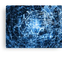 Conspiracy Background in Blue Canvas Print