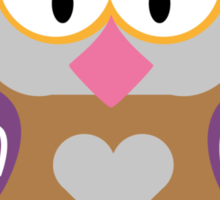 Ugly owl  Sticker