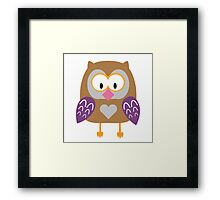 Ugly owl  Framed Print