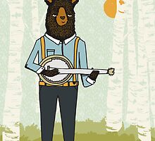 Banjo Bear by Paper Sparrow by Paper Sparrow