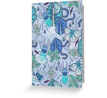 Frozen bugs in the garden Greeting Card