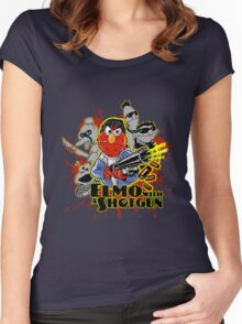 Elmo With Shotgun Women's Fitted Scoop T-Shirt