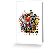 Elmo With Shotgun Greeting Card