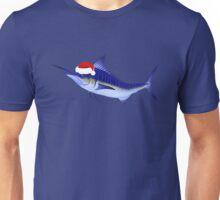 Blue Marlin In Christmas Mood Unisex T-Shirt