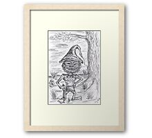 0613 - The old Goblin of the Woods with pointed hat Framed Print