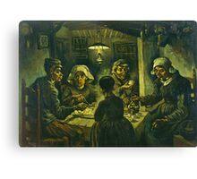 Vincent Van Gogh  Die Kartoffelesser Canvas Print