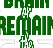 BJJ Brazilian Jiu Jitsu - Train your brain Sticker